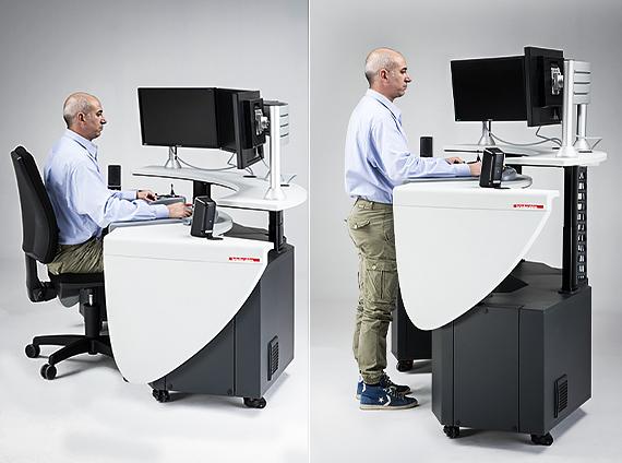 Brieda Cabins - Remote Control Desk adjustable height